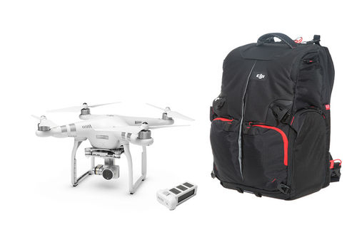 Phantom 3 Advanced with Extra Battery and Phantom Backpack