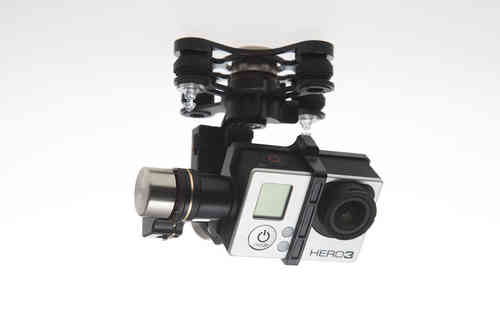 DJI Zenmuse 3 Ejes H3-3D for GoPro 3/GoPro 3+ con gcu y cables