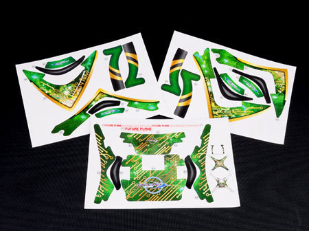 Pre-Cut Body Sticker Set (Green) - Phantom 2