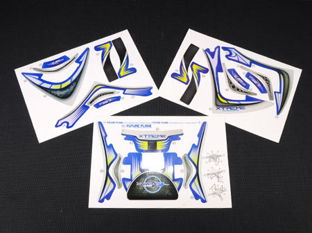 Pre-Cut Body Sticker Set (Blue) - Phantom 2