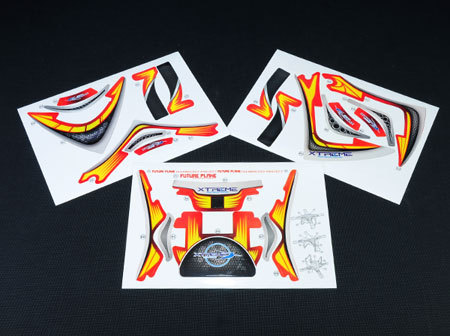 Pre-Cut Body Sticker Set (Red) - Phantom 2