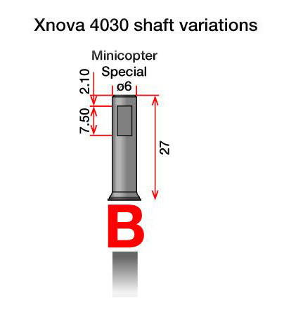 Xnova Motor Shaft 4030 Type B
