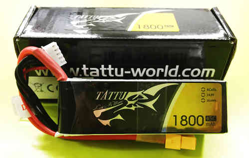 Tattu 1800mAh 45C 4S1P Lipo Battery Pack FPV Race