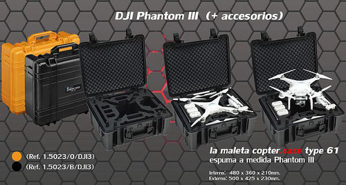 Maleta Estanca Type 61 especial DJI Phantom 3
